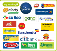 Colombia local payment options cash PSE online transfers bancolombia efecty via baloto davivienda citibank